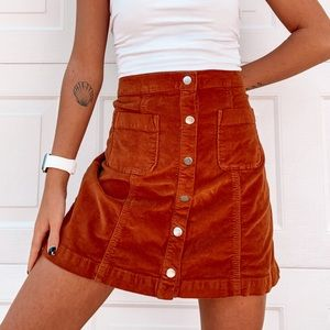 Urban Outfitters Orange Skirt Size Medium
